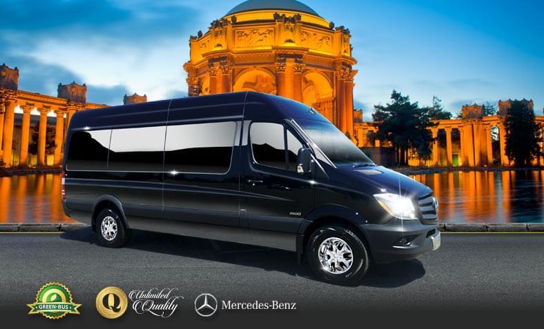 15 passenger mercedes sprinter bus charter bus charter for Mercedes benz charter bus