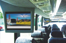 charter bus media system