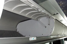 charter bus overhead storage