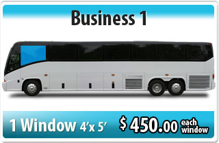 bus wrap business: 1 window signage