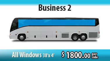 bus wrap business: all windows signage